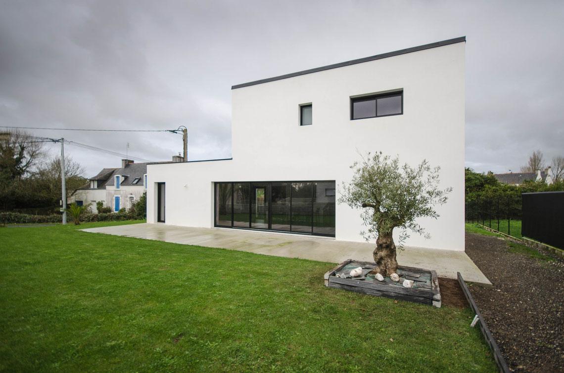 Maison contemporaine épurée Mélanie Ouchem