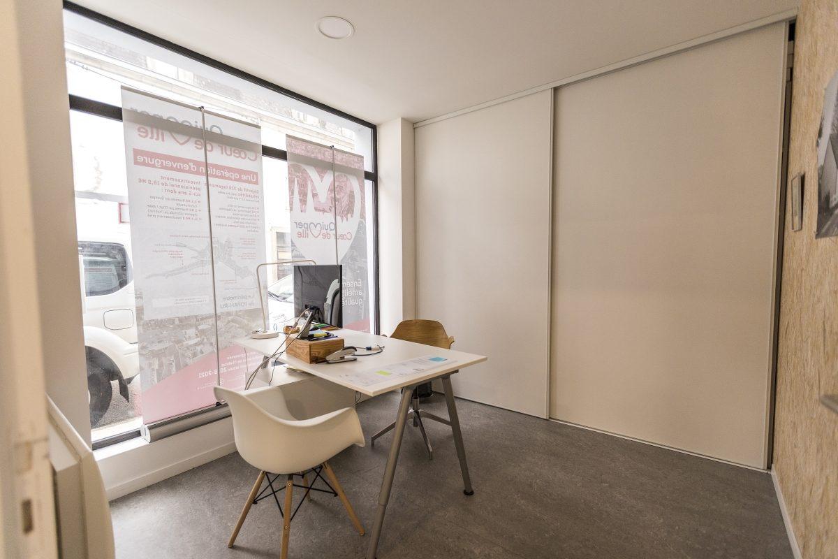 Aménagement de bureaux quimper mélanie ouchem architecte à quimper
